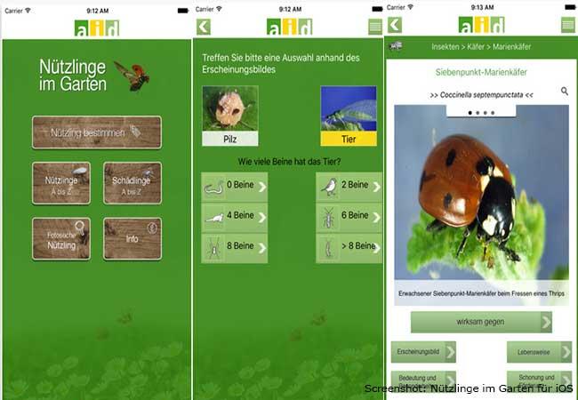 Garten Apps: Nützlinge im Garten