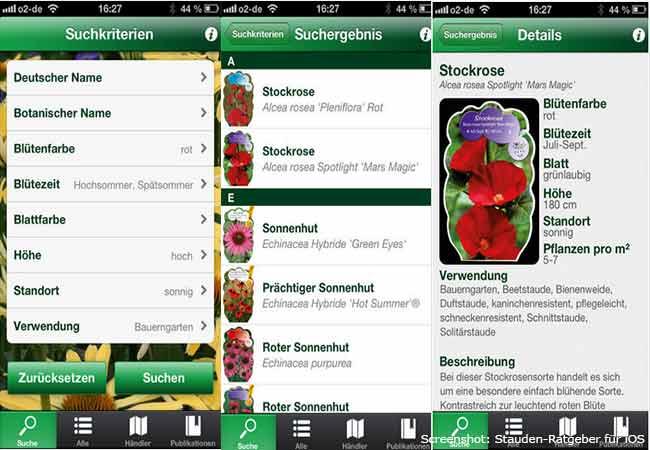 Garten Apps: Stauden-Ratgeber