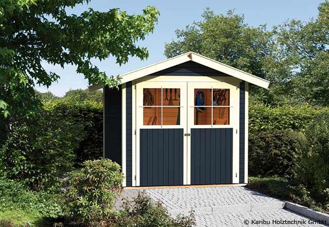 Ein guter Holzschutz schützt das Gartenhaus vor Wind und Wetter.