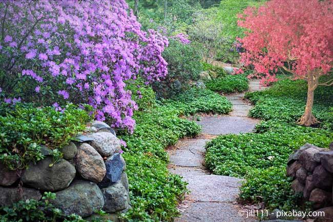 Auch die Gartenwege sollten bei der Planung nicht vernachlässigt werden