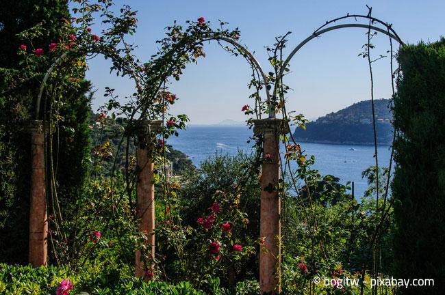 Extravaganter Rosenbogen mit drei Bögen