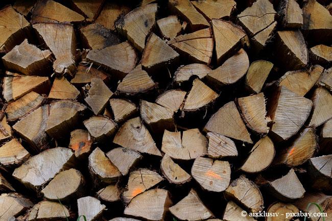 Lagern Sie Ihr Brennholz nach dem spalten so trocken wie möglich, denn dann hat es einen besseren Brennwert.